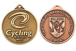 Custom personalised medals and medallions for schools, sports events and clubs.