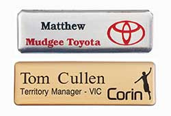 Highly customisable name badges to professionally convey your brand.